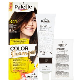 image 2 of Schwarzkopf Palette Color Shampoo Hair Color Dark Chocolate 341