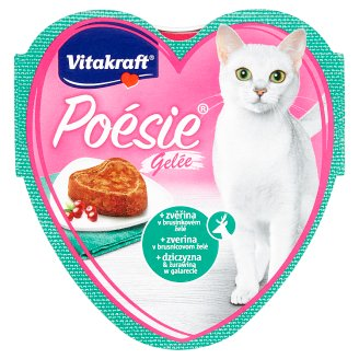 Vitakraft Poésie Gelée + Venison in Cranberry Jelly 85g