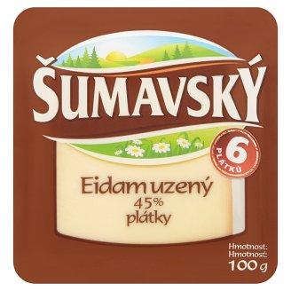 Šumavský Eidam 45% Smoked Slices 100g