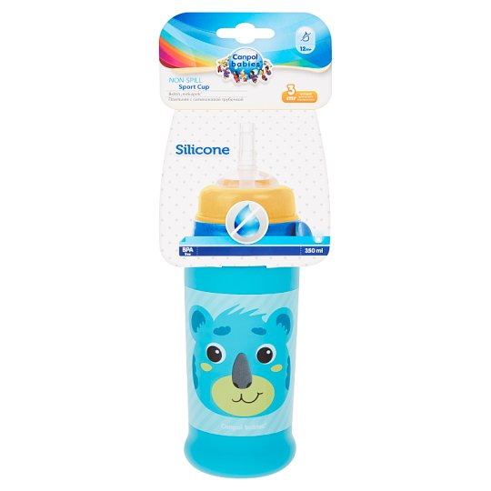Canpol Babies Non-Spill Sport Cup with Silicone Spout - Straw 12m+ 350ml