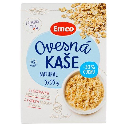 Emco Porridge Natural 30% Less Sugar 5 x 55g