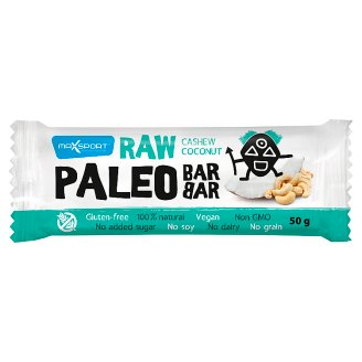 MaxSport Paleo Raw Bar with Coconut and Cashew Nuts 50g