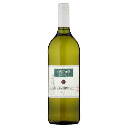 Vinařství Barborka Müller Thurgau víno bílé suché 1l
