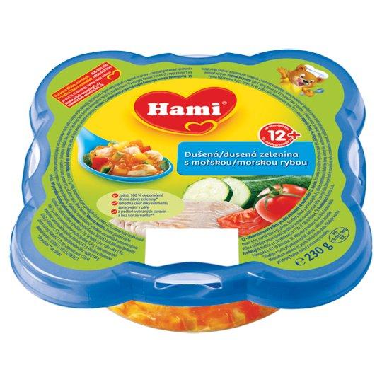 Hami masozeleninový talířek Malý Gurmán Dušená zelenina s mořskou rybou od uk. 12. měsíce 230g