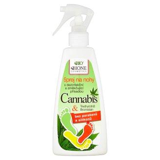 Bione Cosmetics Bio Cannabis sprej na nohy s dezinfekční a změkčující přísadou 260ml