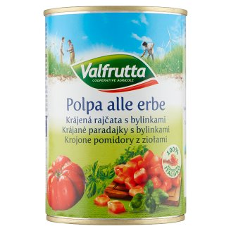 Valfrutta Sliced Tomatoes with Herbs 400g