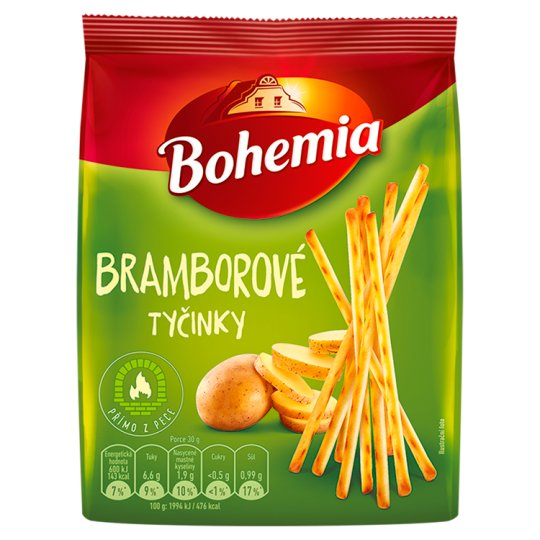 Bohemia Potato Snack Sticks 190g