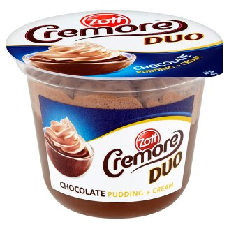 Zott Cremore Duo Chocolate Pudding + Cream 200g