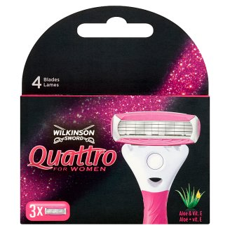 Wilkinson Sword Quattro for Women Disposable Razor Cartridges 3 pcs