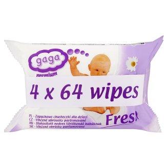 Gaga Premium Vlhčené ubrousky parfemované 4 x 64 ks