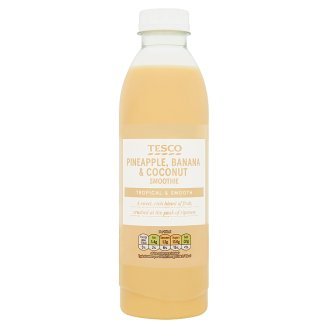 Tesco Pineapple, Banana and Coconut Smoothie 750ml