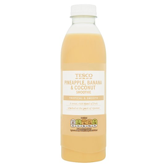 Tesco Pineapple, Banana & Coconut Smoothie 750ml