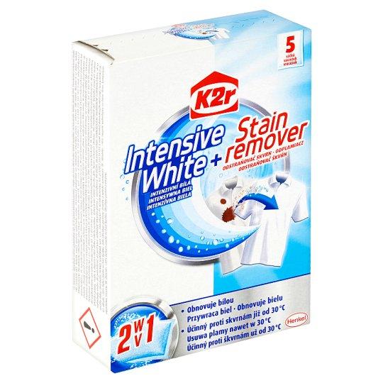 K2r Intenzivní bílá + odstraňovač skvrn 2 v 1 sáčků 5 x 30g