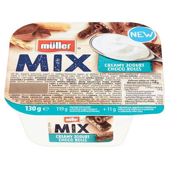 Müller Mix Choco Rolls Creamy Yoghurt 130g