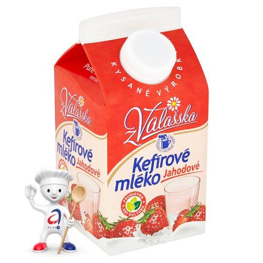 Mlékárna Valašské Meziříčí Kefírové mléko nízkotučné jahodové 450g