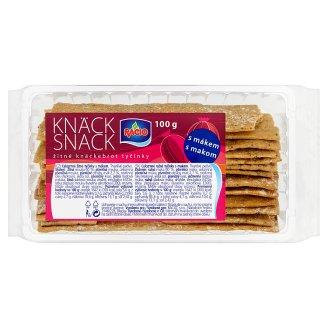 Racio Knäck snack žitné knäckebrot tyčinky s mákem 100g