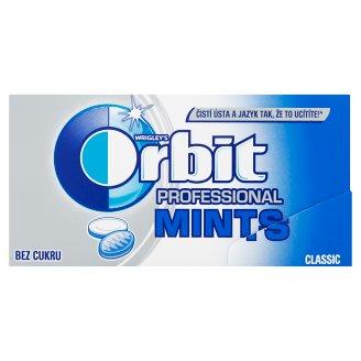Wrigley's Orbit Professional Mints Classic bez cukru 18 bonbónů 18g