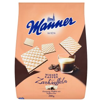 Manner Crispy Wafers Filled with Coffee Creme 200g