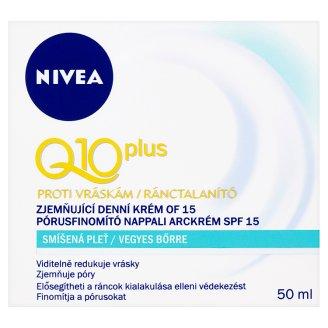 Nivea Q10 Plus Zjemňující denní krém proti vráskám OF 15 50ml