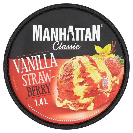 Manhattan Classic Vanilla Strawberry Ice Cream 1400ml