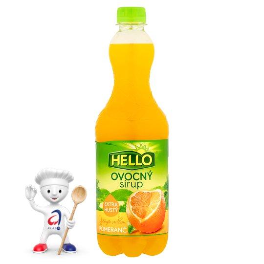 Hello Ovocný sirup pomeranč 0,7l