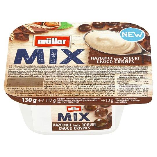 Müller Mix Choco Crispies jogurt s lískooříškovou příchutí 130g