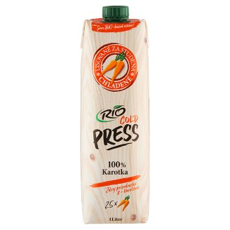 RIO FRESH 100% mrkvová šťáva 1l