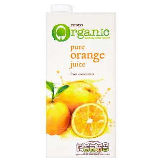 Tesco Organic Pure Orange Juice from Concentrate 1L
