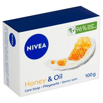Nivea Honey & Oil Pečující krémové mýdlo 100g