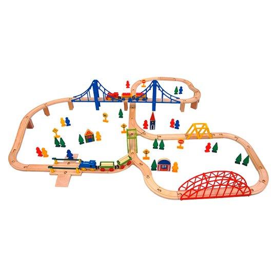 Carousel Dřevěná železnice 100 ks