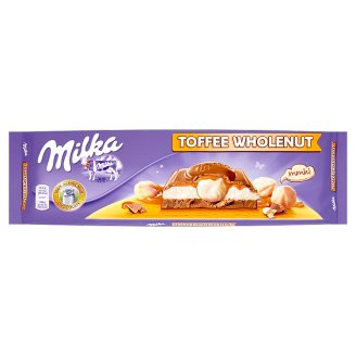 Milka Milk Chocolate from The Alpine Milk Filled with Milk Filling and Caramel Flavour 300g