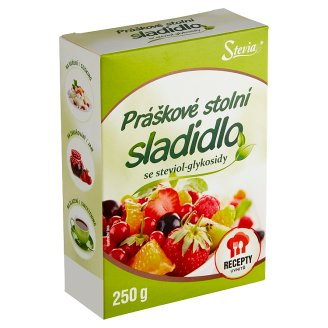 Stevia Powder Tabletop Sweetener Based on Steviol Glycosides 250g