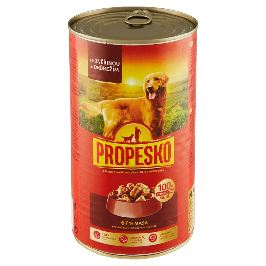 Propesko Pieces of Venison and Poultry in Sauce 1240g
