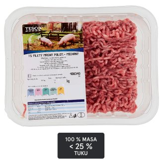 Tesco Pork and Beef Mixed Mince Meat 25% Fat 500g