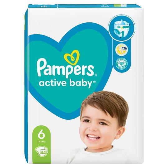 Pampers Active Baby Velikost 6, 44 Plenek, 13–18kg