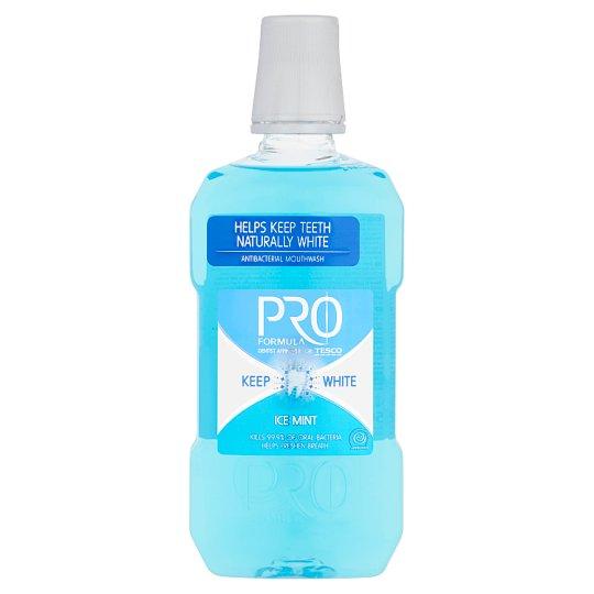 Tesco Pro Formula Keep White Ice Mint ústní voda 500ml