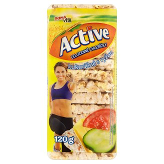 Bona Vita Active Celozrnné kukuřičné chlebíčky s rýží 120g