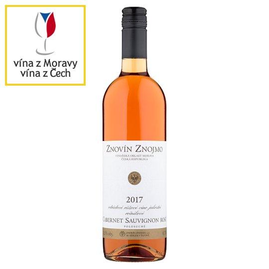 Znovín Znojmo Cabernet Sauvignon Rosé odrůdové růžové víno jakostní ročníkové polosuché 0,75l