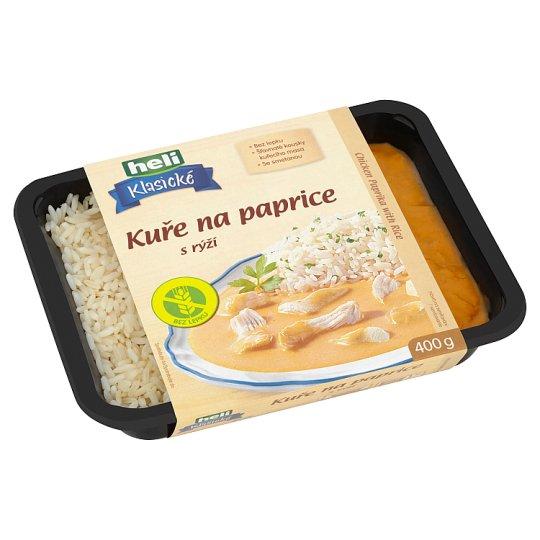 Heli Klasické Kuře na paprice s rýží 400g