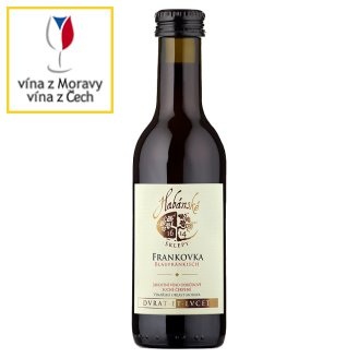 Habánské Sklepy Frankovka jakostní víno odrůdové suché červené 0,187l