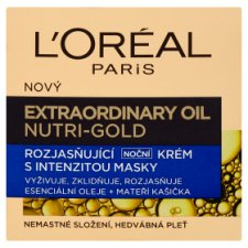 image 1 of L'Oréal Paris Extraordinary Oil Nutri-Gold Brightening Night Cream with Mask Intensity 50ml