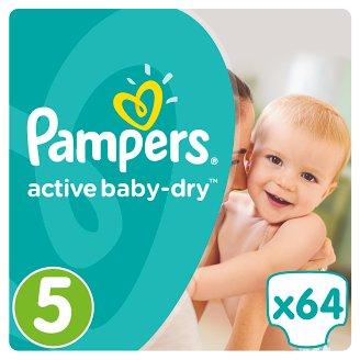 Pampers Active Baby-Dry Dětské Plenky Velikost 5 (Junior), 64 ks