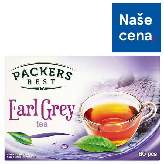 Packers Best Earl Grey černý čaj 80 x 1,5g