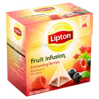 Lipton Ovocný čaj Enchanting Berries Malina & Borůvka 20 sáčků
