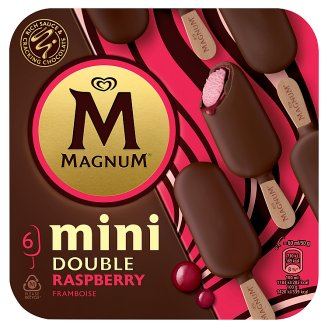 Magnum Mini Double Raspberry malinová zmrzlina 6 x 60ml