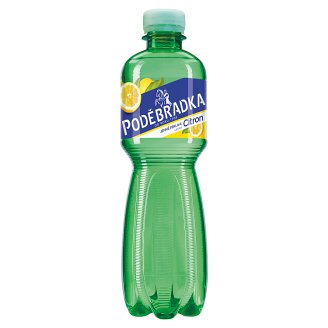 Poděbradka Lightly Carbonated Mineral Water with Lemon Flavour 0.5L