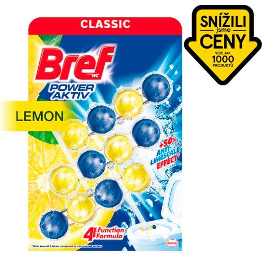 Bref Power Aktiv Fragrance Boost Lemon tuhý WC blok 3 x 50g