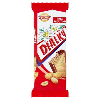 Sedita Dialky Wafers with Peanut Cream Filling with Fructose in Cocoa Glaze 40g