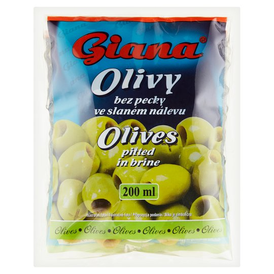 Giana Olives Pitted in Brine 195g