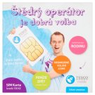 Tesco Mobile Christmas Card Operator SIM Card Credit CZK 150